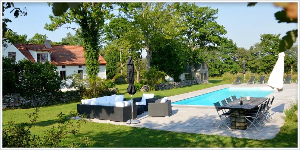 Huset Tore Gotland - Huset och pool